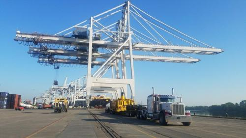 Oversize Load delivery to Savannah Port