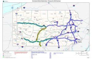 PennDOT Announces Vehicle Restrictions Due to Storm, Ice